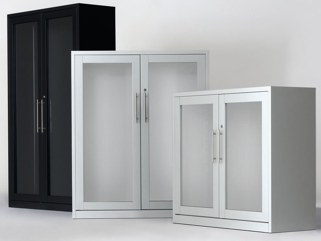 Armario puertas cristal abatibles coprohi for Armarios puertas abatibles
